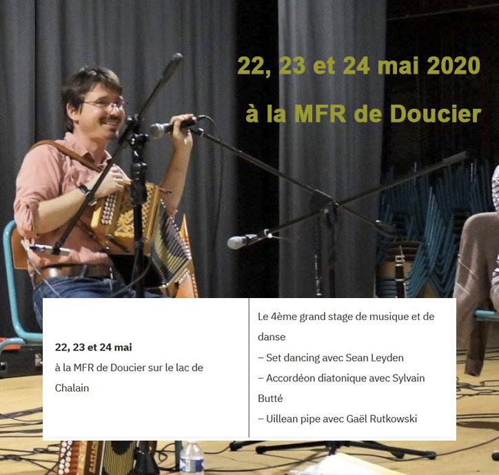 22 mai 2020 - Stage Musique et Danse - MFR de Doucier