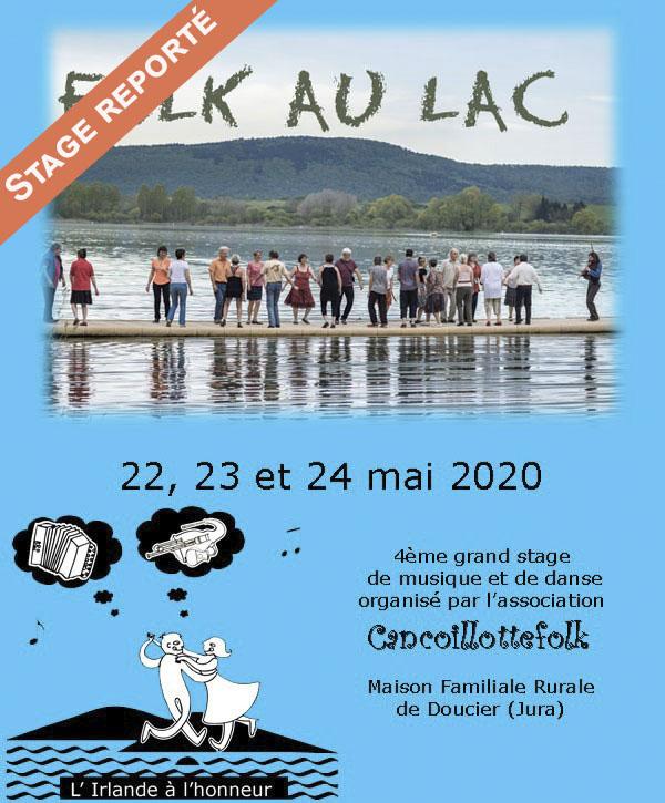 Stage FOLK AU LAC reporté en 2021